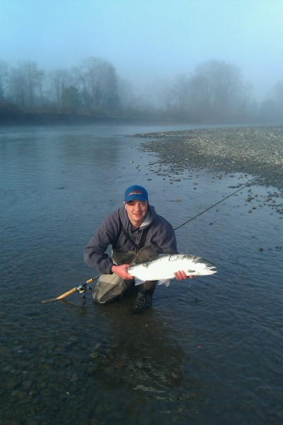 Justin with steelhead